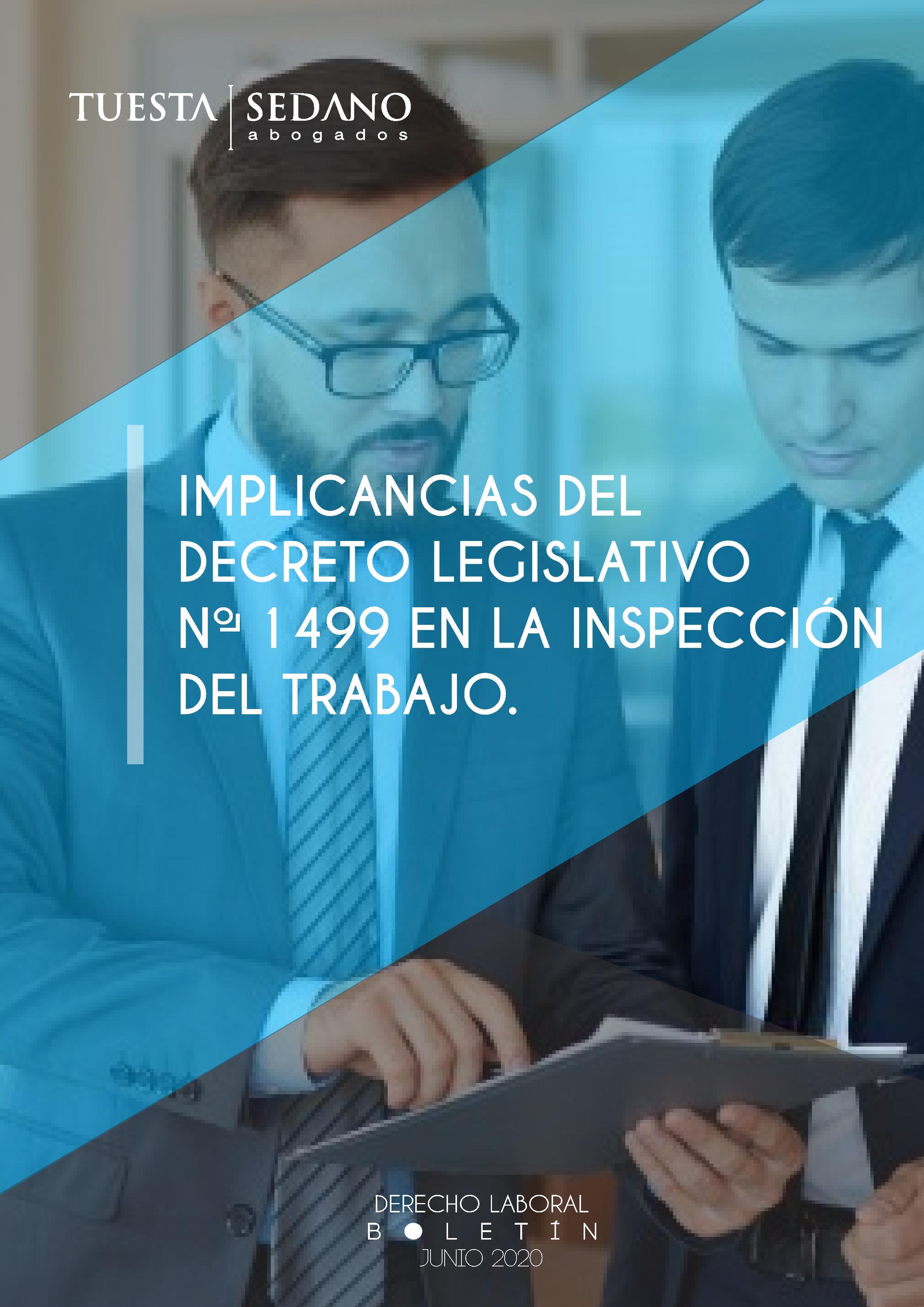 1-IMPLICANCIAS DEL DECRETO LEGISLATIVO No.1499 EN LA INSPECCIÓN DEL TRABAJO